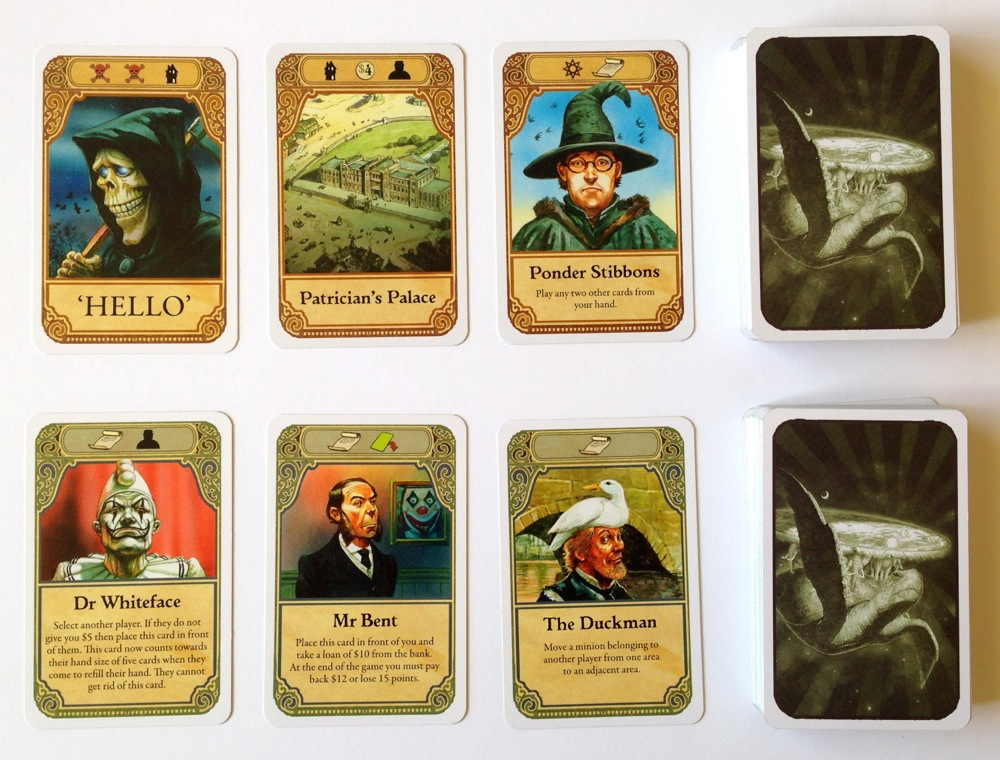 A sample of the cards